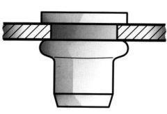 Écrou aveugle inox tête goutte de suif M6x9x15,5mm