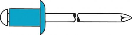 Rivet aveugle inox A2/inox tête goutte de suif 5x8mm